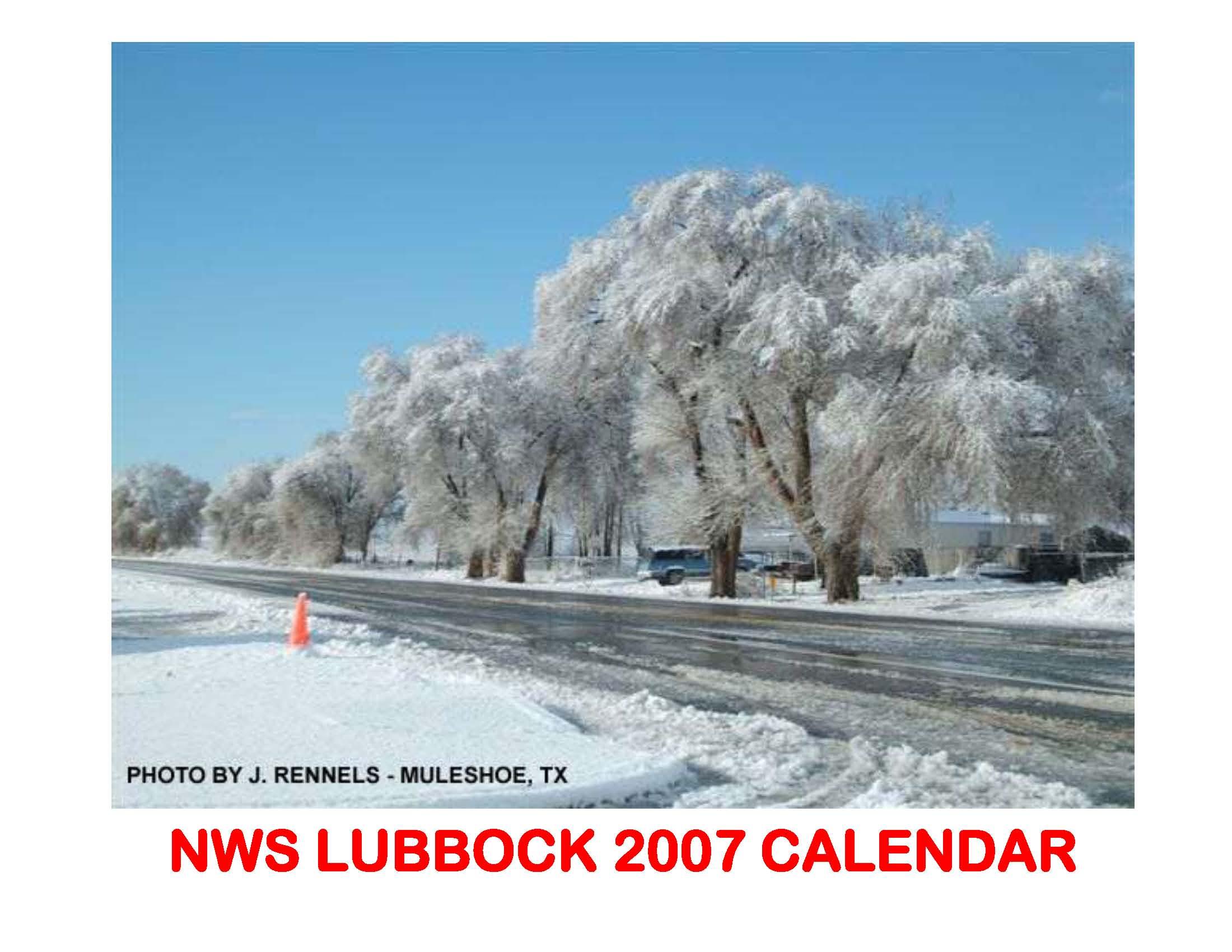 2007 NWS Lubbock Calendar