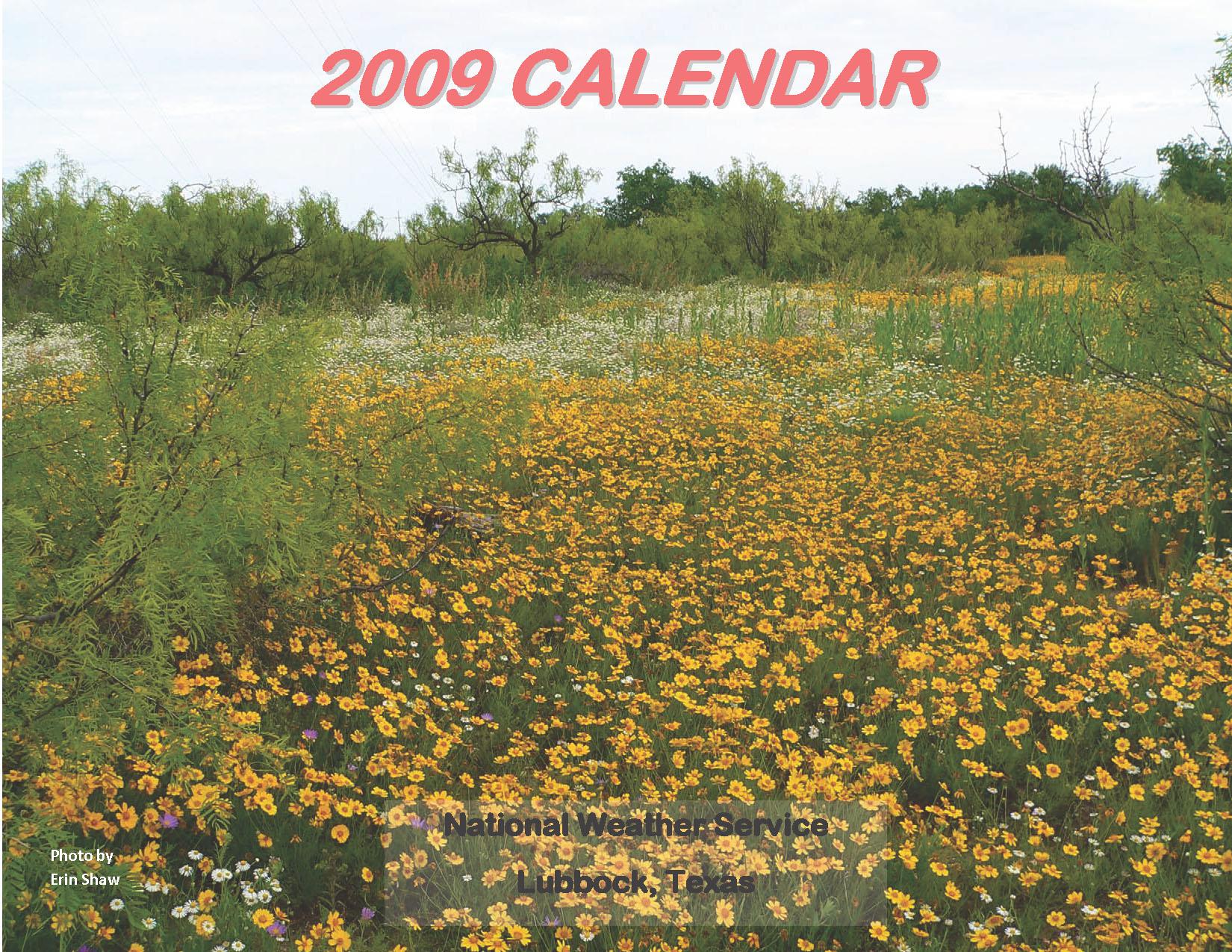 2009 NWS Lubbock Calendar