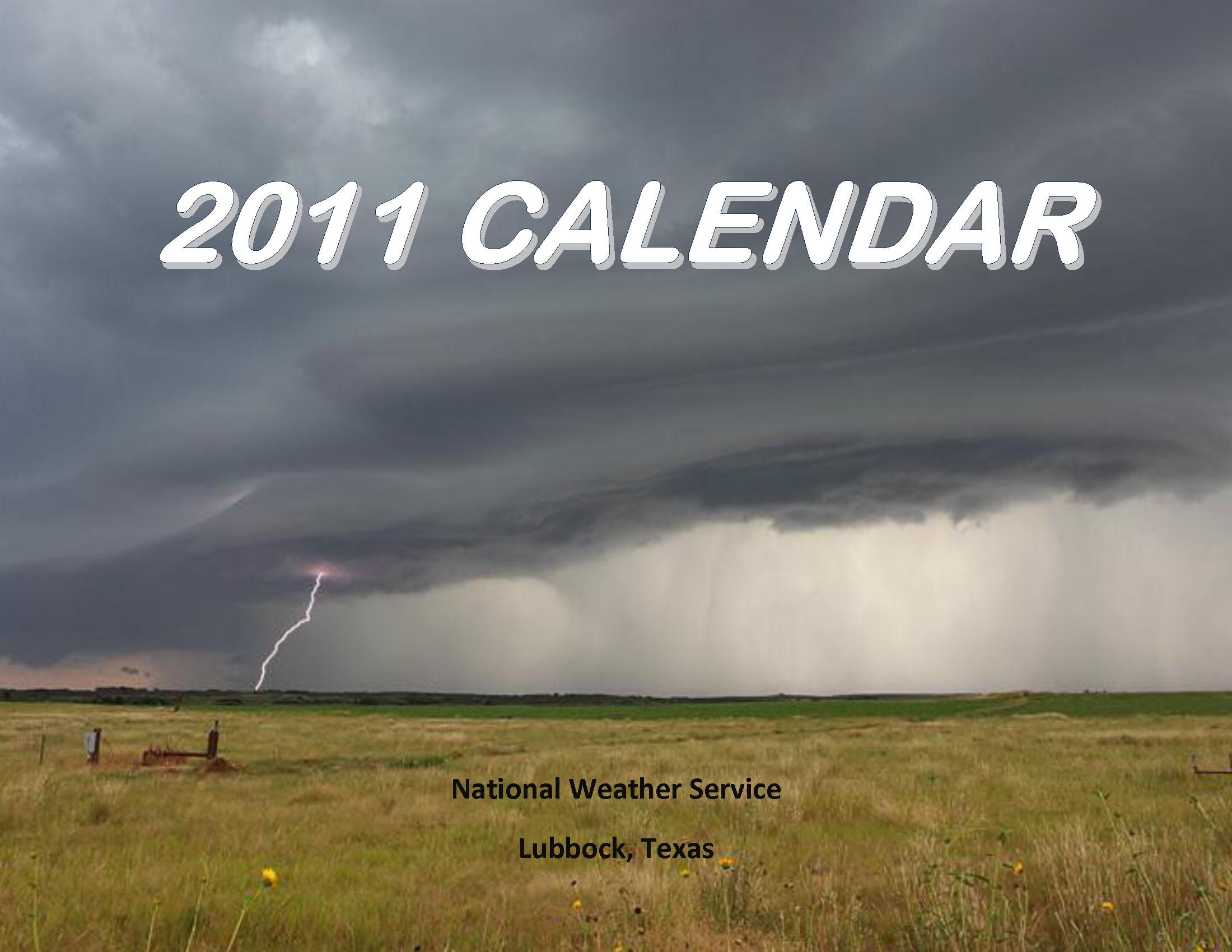 2011 NWS Lubbock calendar