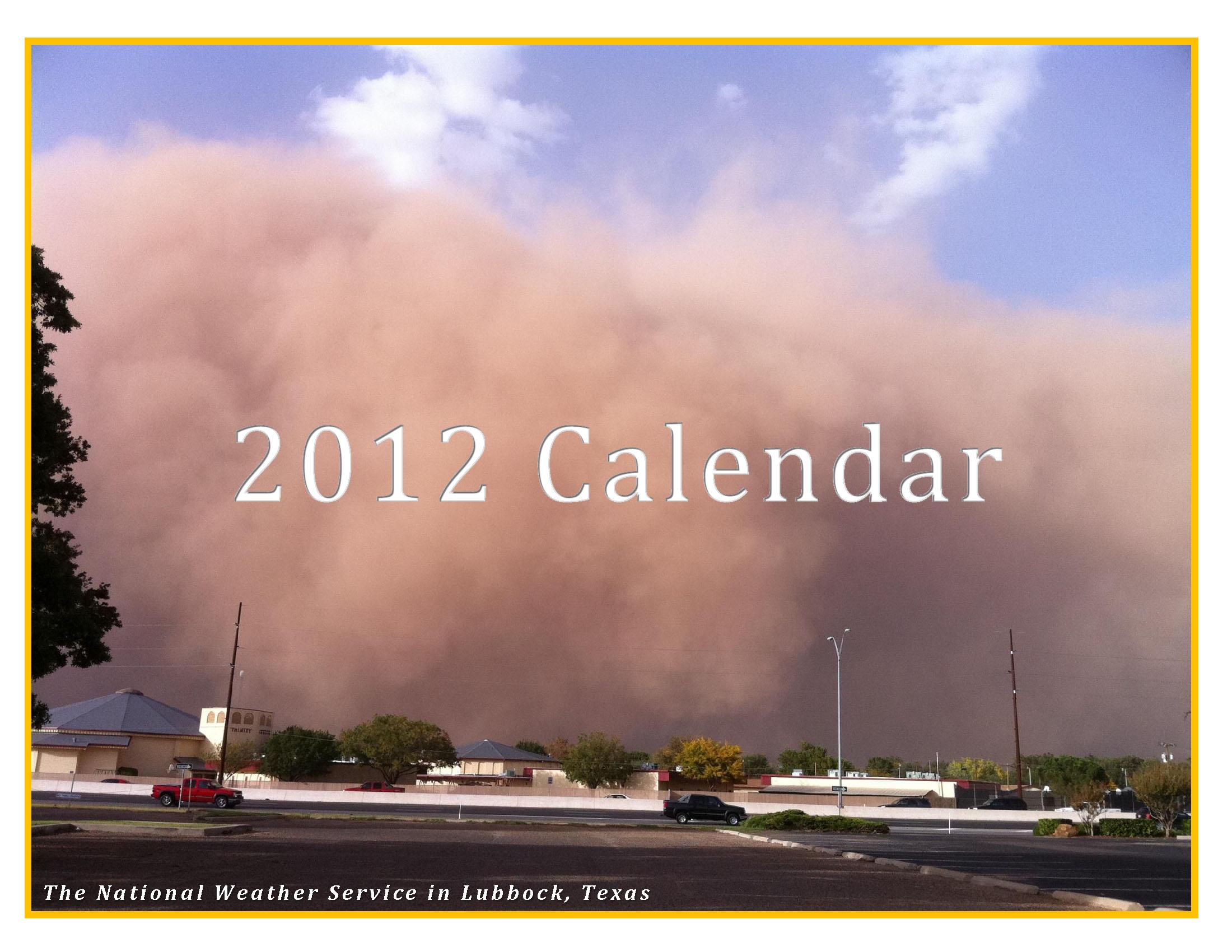 2012 NWS Lubbock Calendar