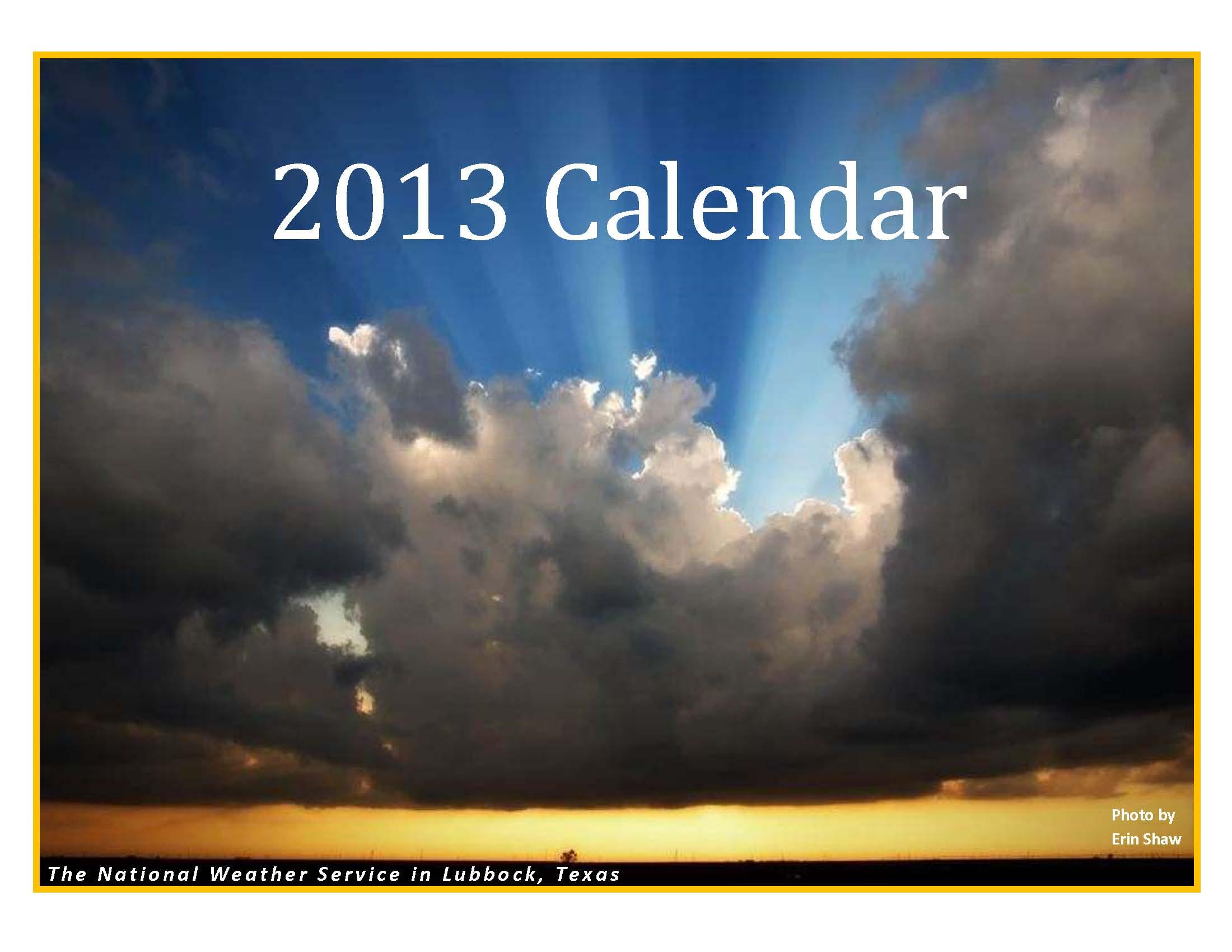 2013 NWS Lubbock Calendar
