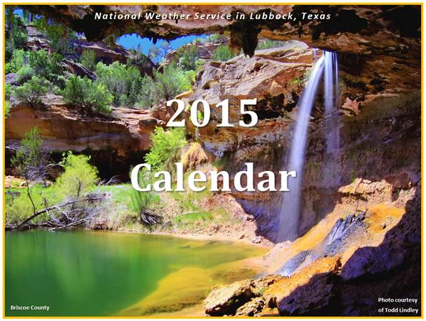 2015 NWS Lubbock Calendar