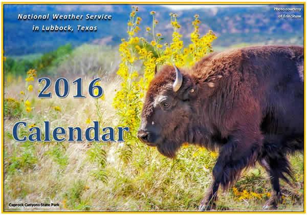 2016 NWS Lubbock Calendar