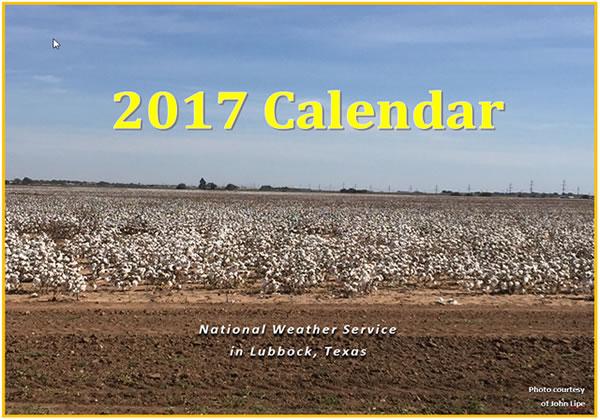 2017 NWS Lubbock Calendar