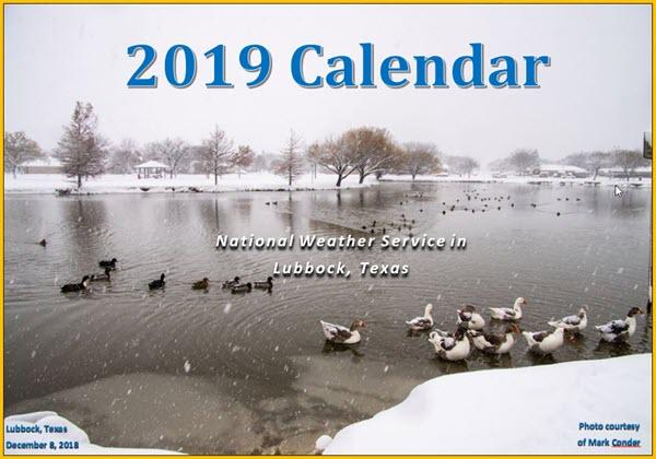 2019 NWS Lubbock Calendar
