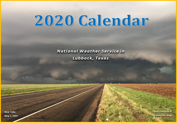 2020 NWS Lubbock Calendar