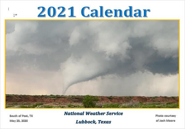 2021 NWS Lubbock Calendar