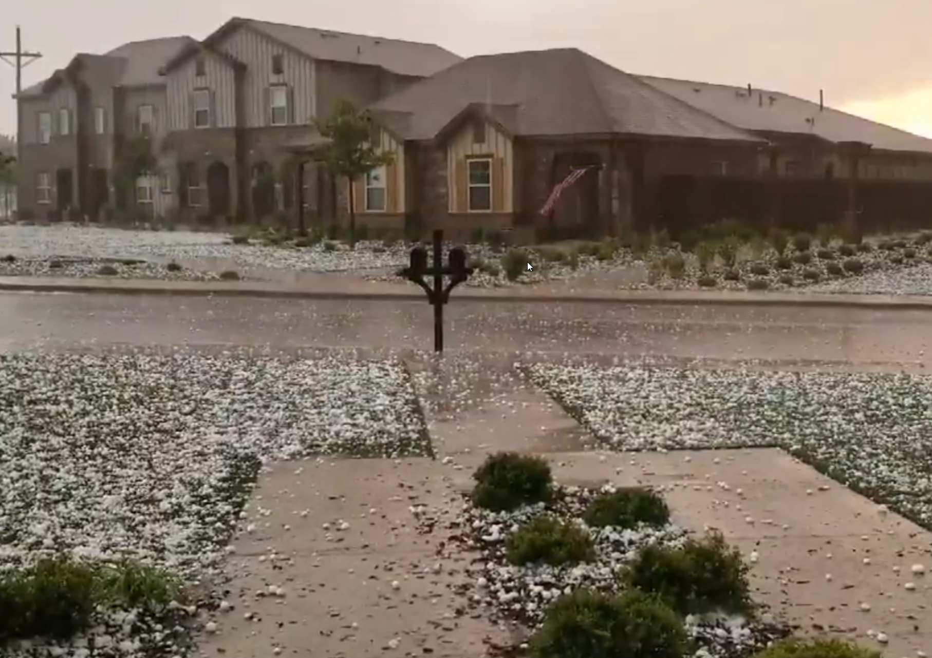 Image of hail in southwest Lubbock captured on 19 May 2018. The picture is courtesy of Emma Weston.