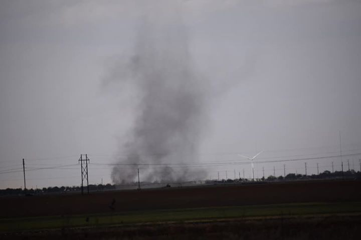 A gustnado observed south of Wolfforth Wednesday afternoon. The picture is courtesy of Chad Casey and KCBD.