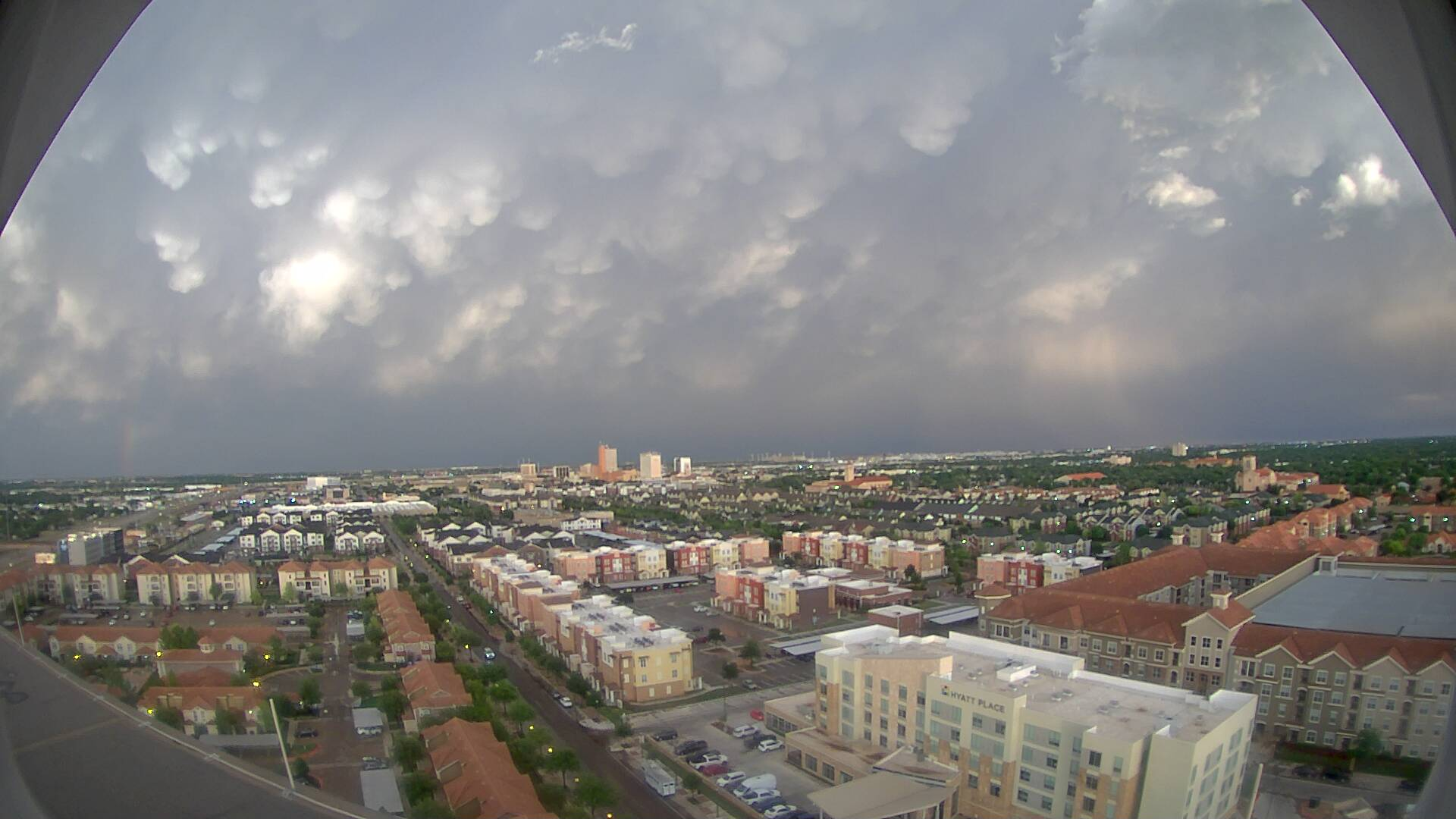 Looking east from Overton, in Lubbock, Saturday evening (23 May 2020). The image is courtesy of KAMC.