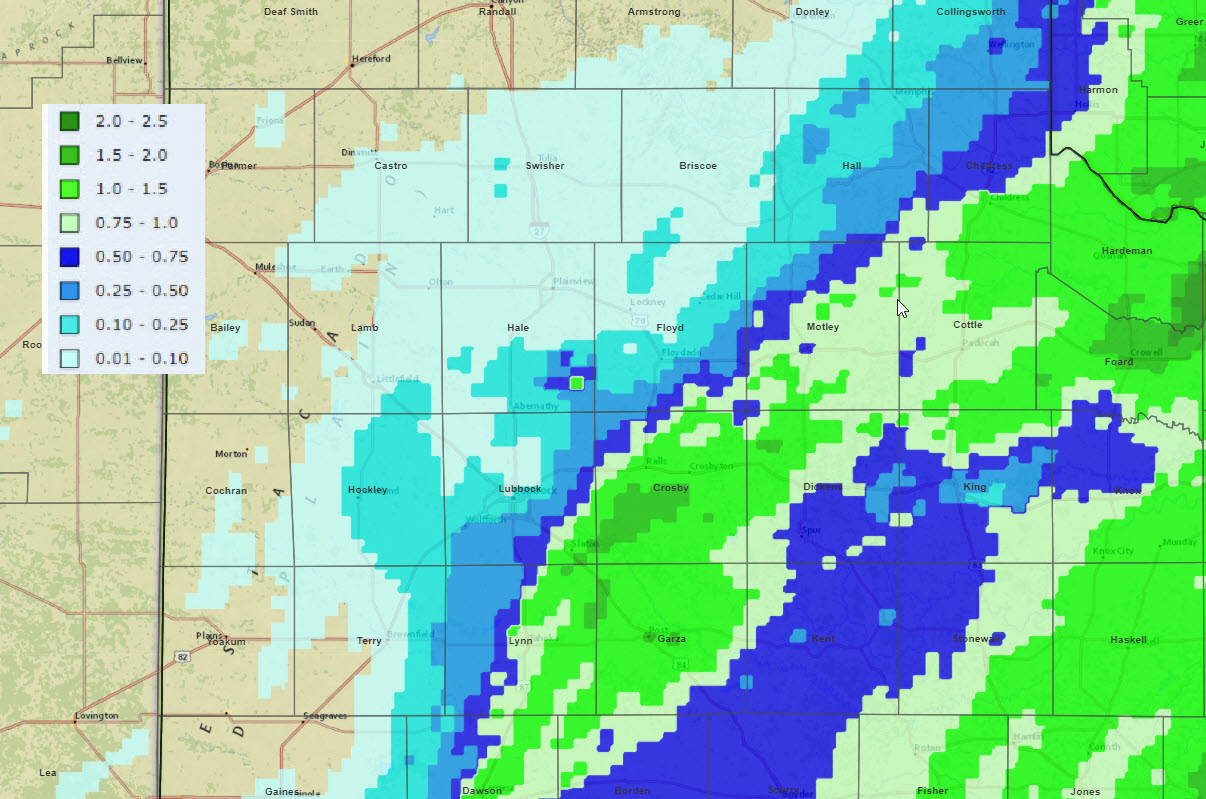 Radar-estimated and bias-corrected 3-day liquid equivalent ending at 6 am on 1 January 2021.
