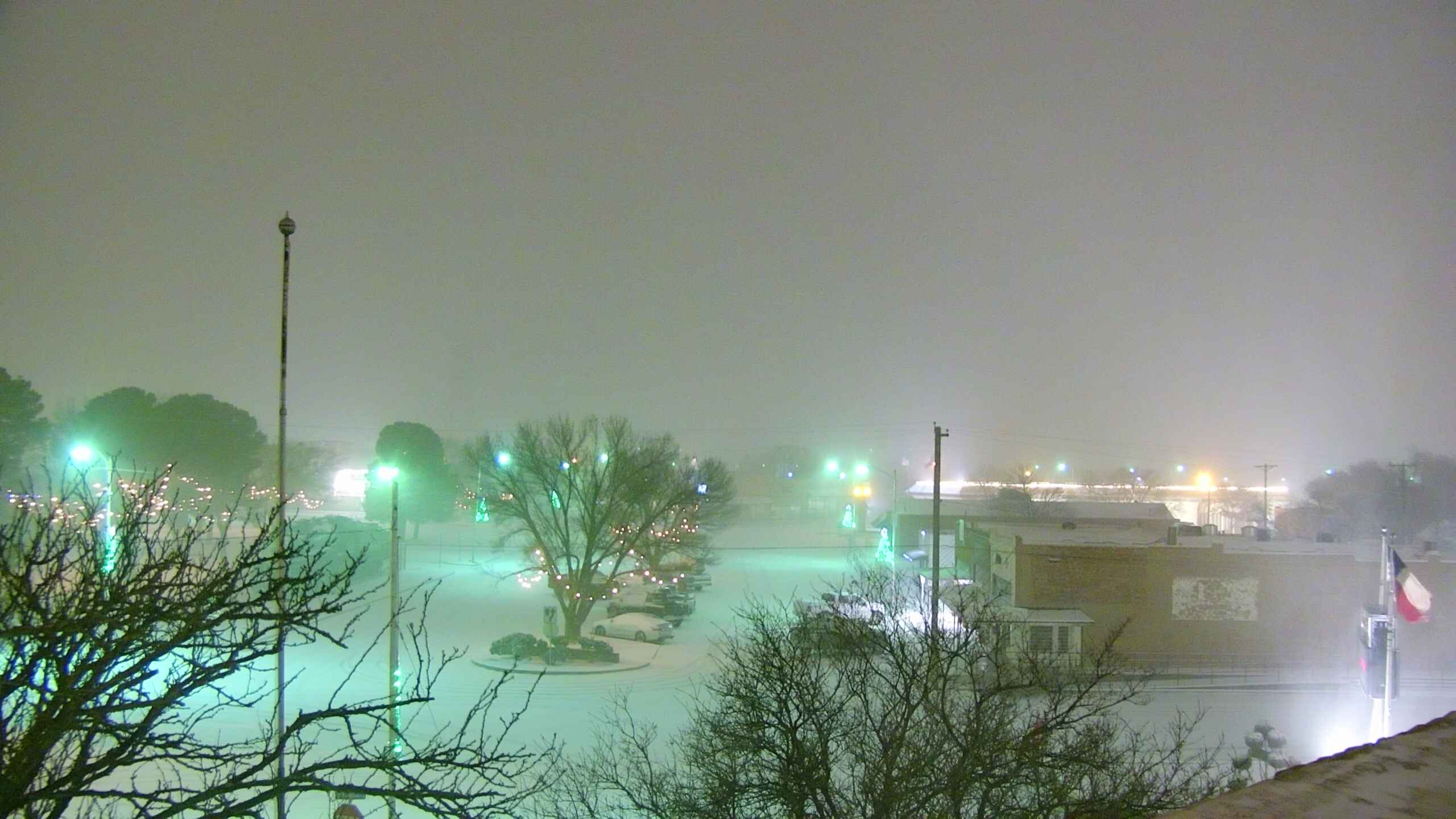 Picture taken Thursday evening (31 December 2020) from Slaton. The image is courtesy of KAMC.