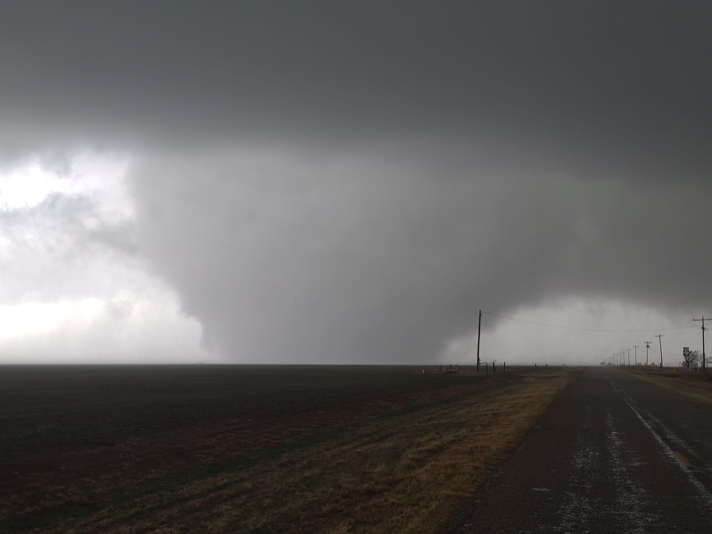Large tornado north of Happy, Texas, Saturday afternoon (13 March). The picture is courtesy ofJay McCoy.