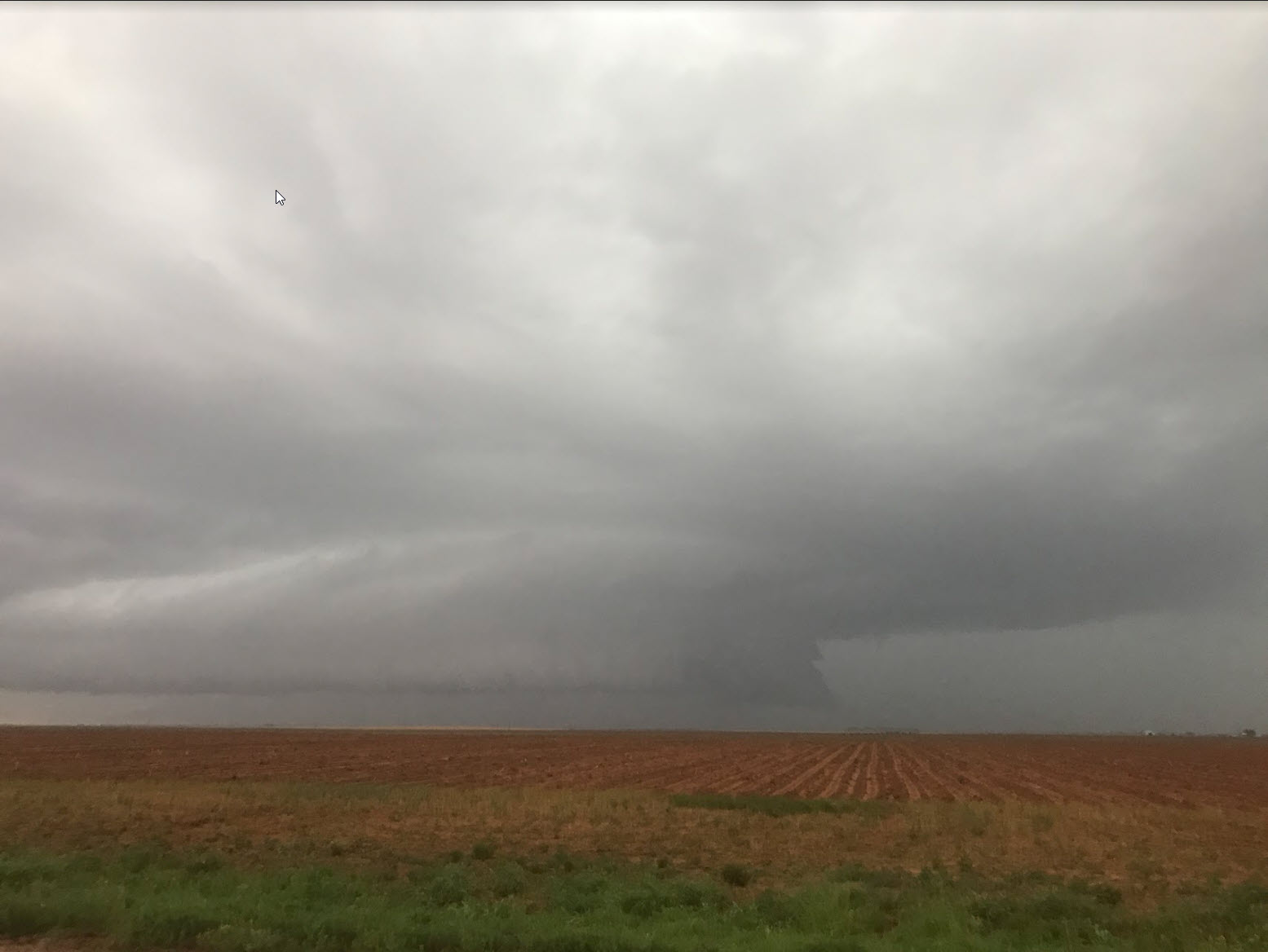 Moisture-rich severe storm over western Cochran County Sunday evening (30 May 2021). The picture is courtesy of Bruce Haynie.
