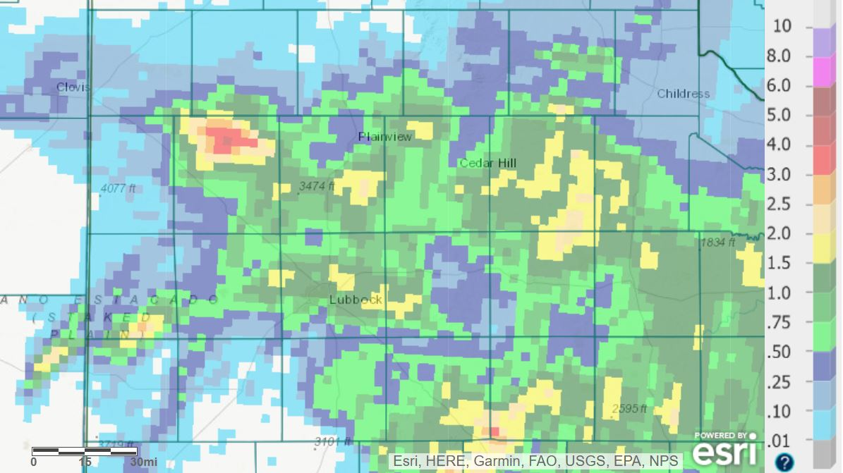 24-hour radar-estimated and bias-corrected rainfall ending at 7 am on Tuesday (25 May 2021).�